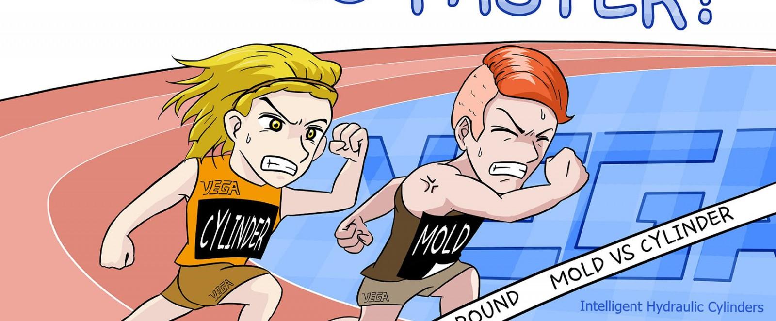 Vega Cylinder vs Mold
